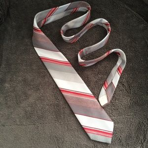 Christian Dior Tie Gray and red